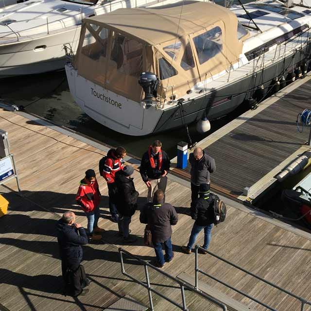 GMI training on pontoons